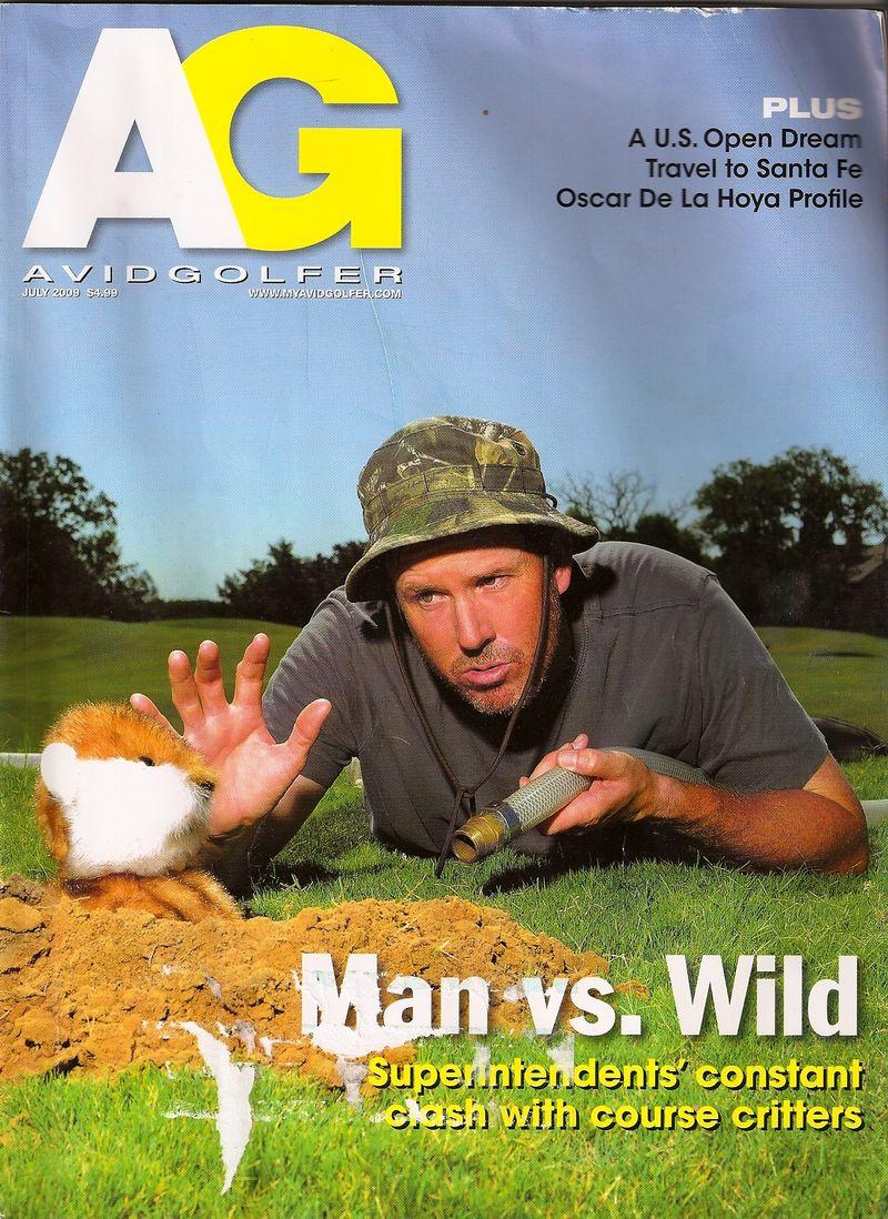Avid Golfer Magazine Cover-Scott