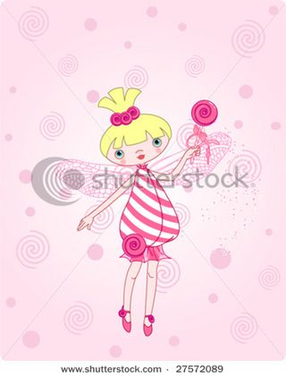 Stock-vector-cute-candy-fairy-flying-on-pink-background-27572089