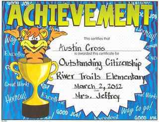 Austin-Outstanding Citizenship Award-Spring 2012